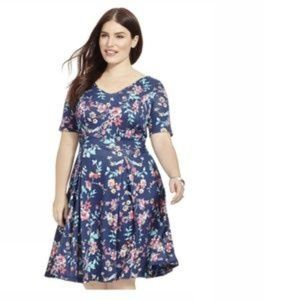Fit & Flare Floral Dress by Poppy & Bloom - Sz16